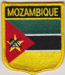 Mozambique Embroidered Flag Patch, style 07.